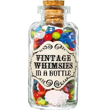 NYの老舗手芸店が販売する、ポップなビンテージビーズ。デザイン性の高いボトルは、インテリアとしても活躍。¥2,625(TinselTrading Company/Heroomtage Deux☎03・6447・2566)