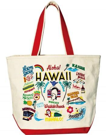 凝った刺繍がくすぐる!『Liberty Bell』デビュー。キャンバスを使ったバッグのブランドがデビュー。都市をテーマにした今季のシリーズは、刺繍のほとんどが手作業! W42×H29×マチ15㎝¥9,240(ショールーム セッション☎03・5464・9975)