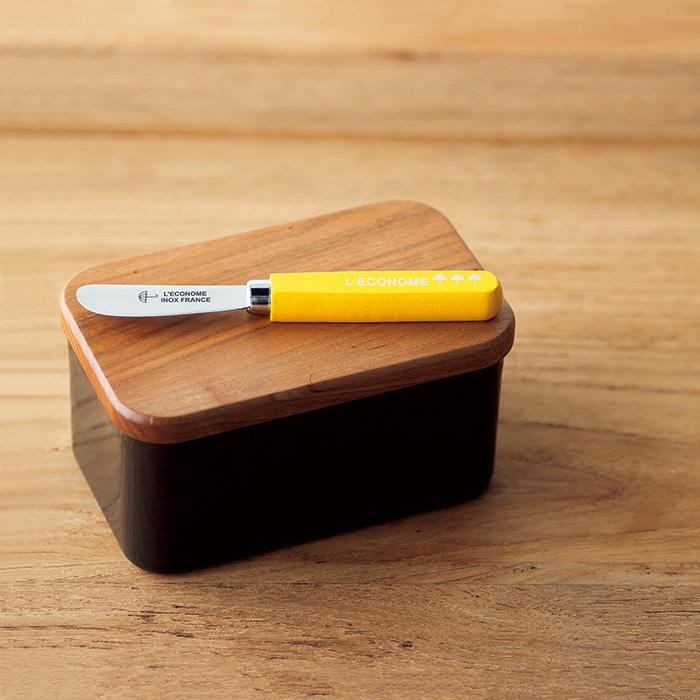 マーガレット・ハウエル ハウスホールドグッズのバターケースとレコノムのバターナイフ