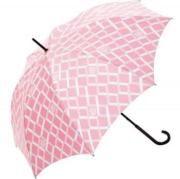 雨の日をカラフルに彩るアンブレラが新発売。『エックス リブリス バイ オランピア ル タン』(ジュンカスタマーセンター☎0120・298・133)から、ブランド定番柄をあしらった傘が新たにお目見え。発色のいいピンクで気分も明るく。¥13,650