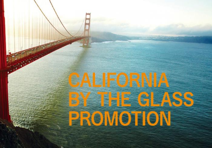 カリフォルニアワインの魅力を知るバイ ザ グラス プロモーション実施中 !
