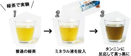 緑茶で実験
