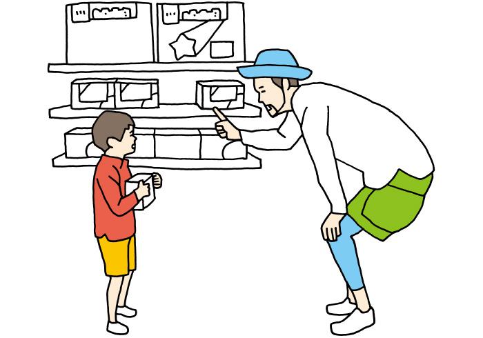 「なぜ買わない方がいいのか理由を示せば、3歳児でも意外と納得してくれるもの」と岡部さん。葛藤を乗り越えておもちゃを戻せたら「偉いね」と褒めることも忘れない