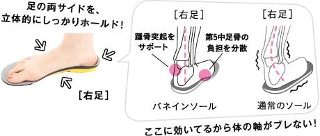 足の歪みの最大原因、かかとを安定させる。