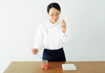 3)甘味、酸味、香りを確認する