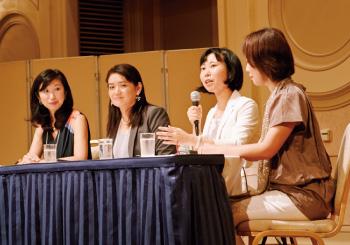 1. 「組織のルールを変える!管理職女性達」セッションの一幕。なぜ管理職に女性が必要か。活躍する女性からの熱い議論。