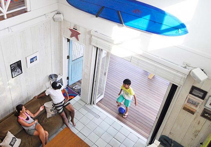 湘南のサーファーズハウス 海を楽しむカリフォルニアスタイルの家。
