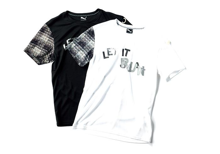 ロックンロールを感じさせる機能性素材のTシャツ。