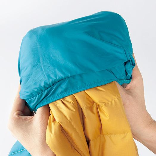 畳んで小さくすれば、ポケットに収納可能。