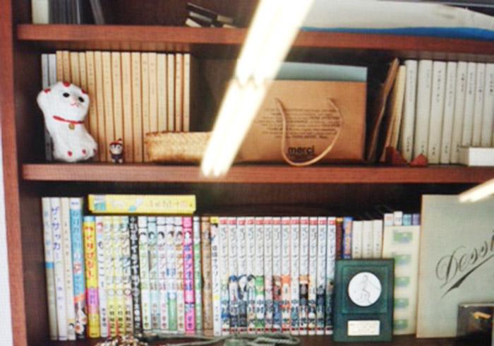 本誌には紹介できなかったのですが、某お宅の本棚に大好きなマンガを発見! こういうのも、他人のおうちにお邪魔したときの、嬉しい偶然ですよね。