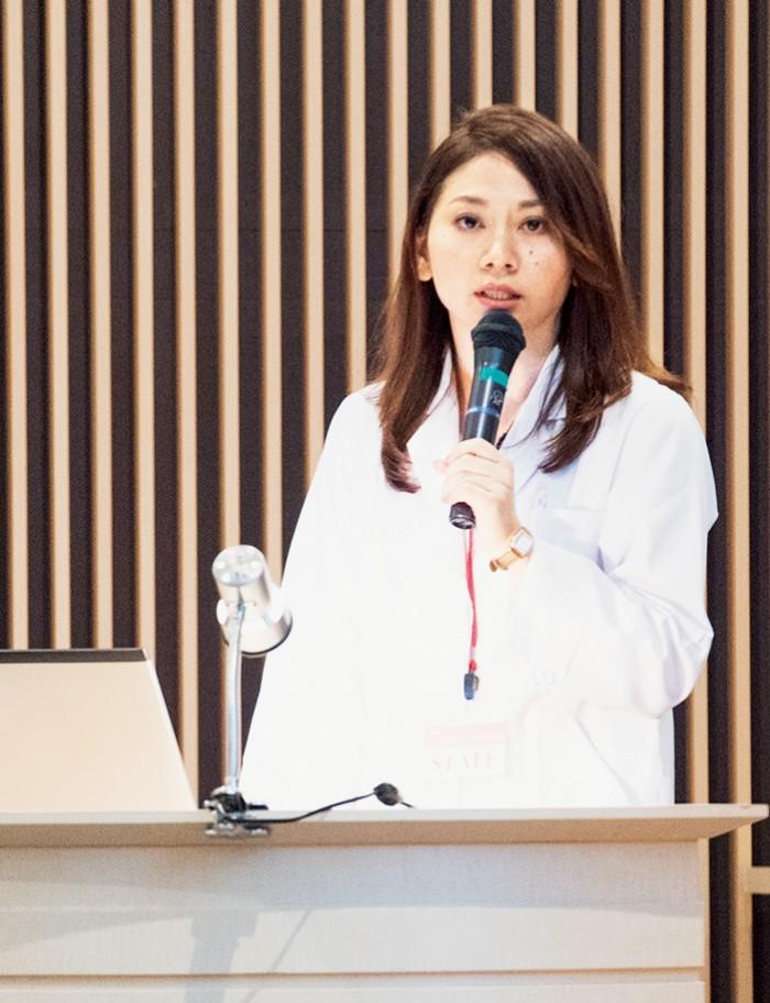 静岡県立大学薬学部卒業後、東京医科歯科大学大学院。乳がんに対するエクオールの安全性の基礎研究を担当。好きな言葉は「一期一会」。