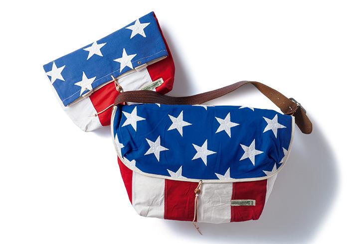 ヴィンテージ星条旗使用のキャッチーなバッグが誕生。
