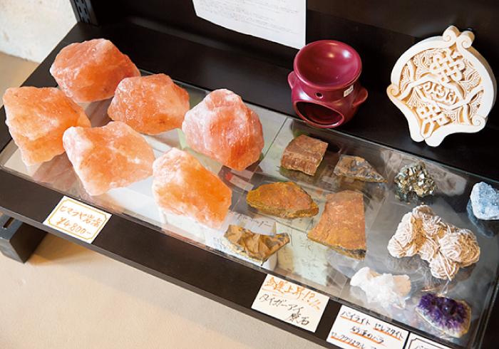 ヒーリング効果があるといわれる、ヒマラヤ岩塩。