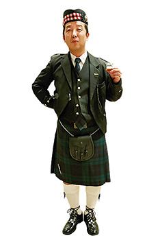 会場にはキルト姿の人も。バグパイプの生演奏もあり、まるでスコットランドにいるような雰囲気。