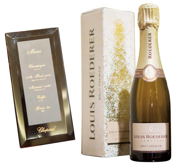 シャンパンはワイン通な社長のお気に入り銘柄! メニューは宮内庁御用達の「山田平安堂」の漆器!