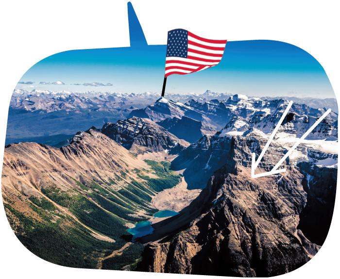 北米のロッキー山脈の高地イメージ