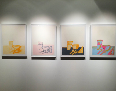 ◀︎ニンジン・カラーのデヴェンドラは、中目黒で撮影。彼のアート作品は、理由など必要なくなんかイイ。和む。