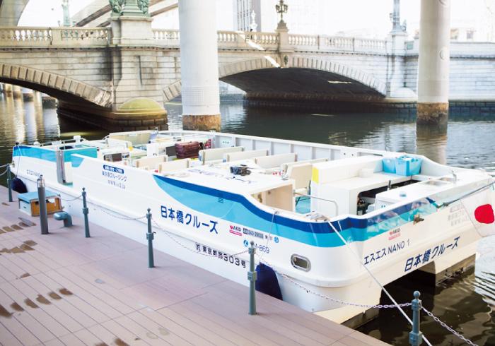 計44人も乗れる大型クルーズ船。
