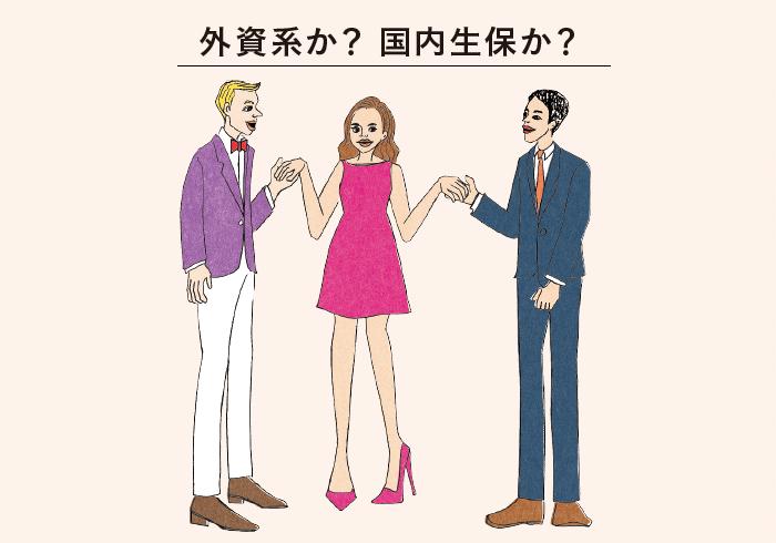 日本の生命保険会社と並んで、カタカナ生保と呼ばれる外資系の保険会社もすっかり日本でおなじみになった。それぞれの特徴に合わせて使いこなそう。