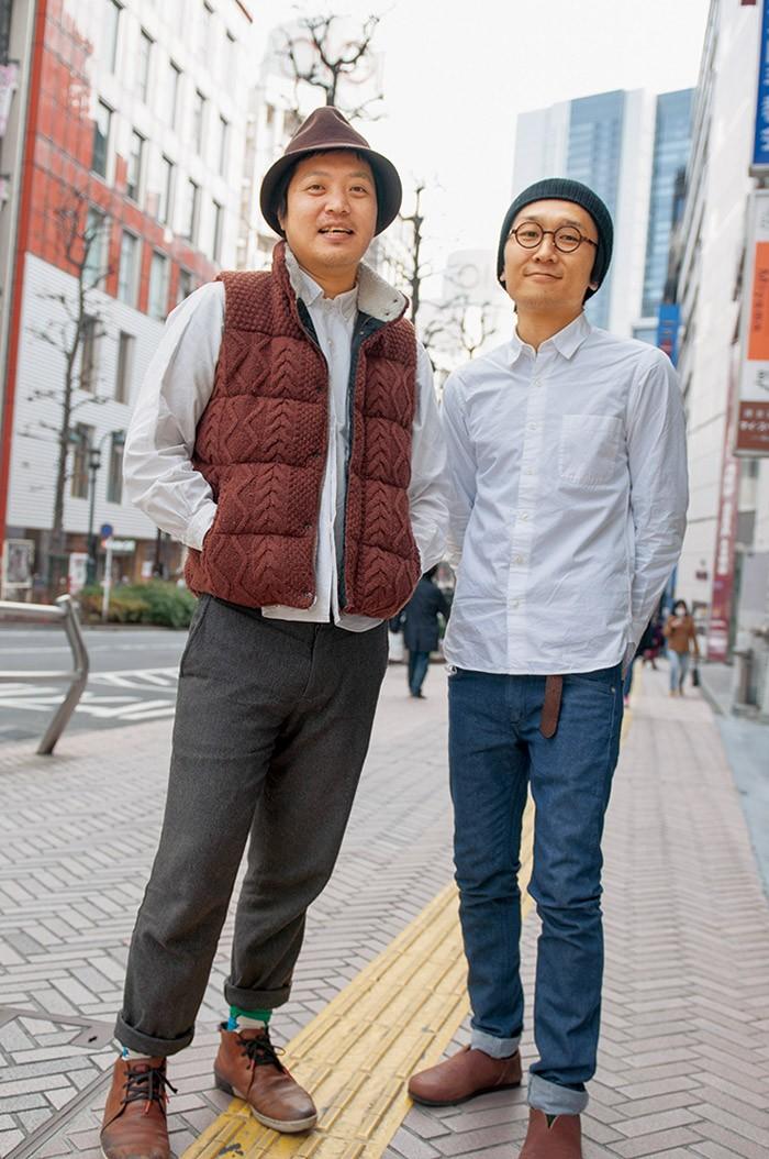 さわださん(左)とウエスギさん(右)。2012年YADOKARIを発足。住宅リノベーションなどを手掛け、小さく創造的な住まい方を提案。
