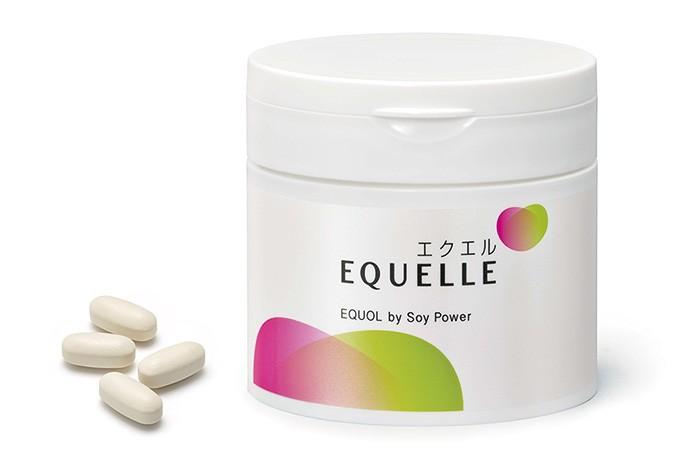 エクオール含有の、大豆胚芽乳酸菌発酵食品「エクエル」。1日4粒で、女性をサポートしてくれる。