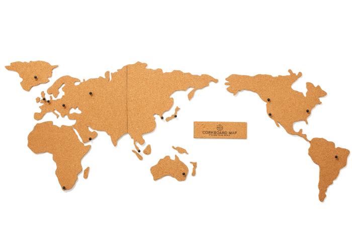 コルクでできた世界地図 ¥4,400(SHOP DETAIL☎03・3711・8838)