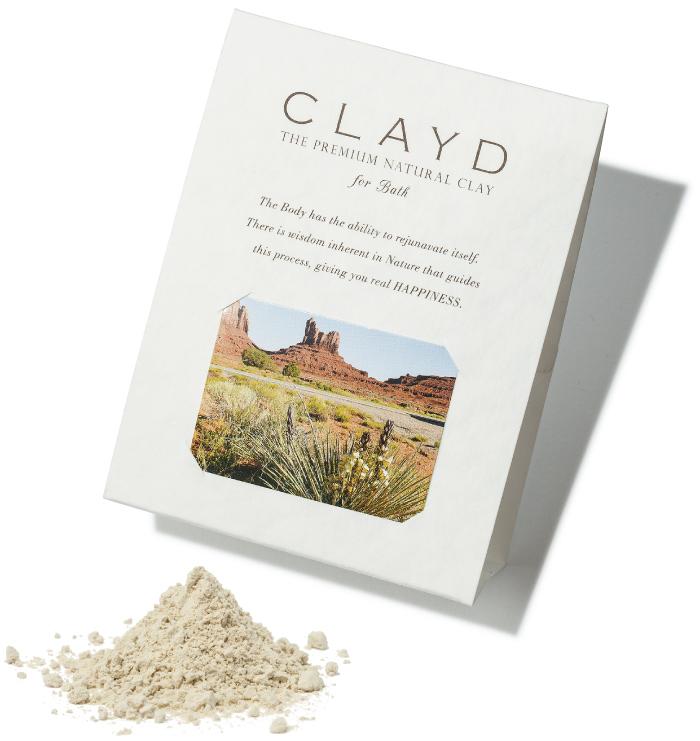 "CLAYD ""ONE TIME""¥500(30g×1袋、1回分)クレイド・ジャパン☎03・6450・5559"
