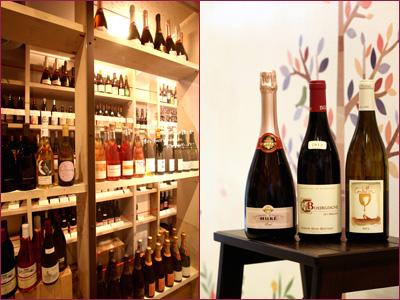 右写真 左から: アルザスのピノ・ノワール100%のスパークリング〈ルネ・ミューレ ロゼ NV〉。ブルゴーニュの20代の女性当主アメリーが造る〈ベルトー ブルゴーニュ・ルージュ レ・プリエール 2012〉は、華やかな赤。ロワールの〈ギャルリエール サンドリヨン 2011〉は、シャルドネ&ソーヴィニヨン・ブランで、シンデレラの物語にちなむさっぱり系。¥2,800〜4,000