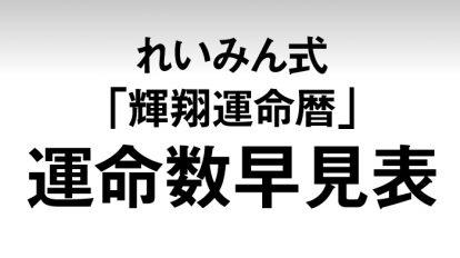 anan2033号仕事運& 金運を味方につける!'17年版・れいみん式「輝翔運命暦」早見表
