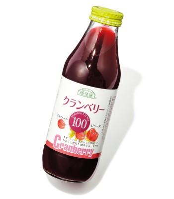 順造選 クランベリー果汁100% ¥3,600(500㎖×3本) マルカイコーポレーション☎0120・103・712 http://www.junzosen.com/
