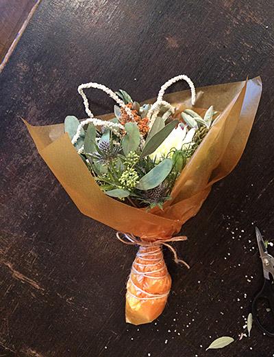 「珈琲とブーケ」企画もぜひ。さりげなく彼女に花を贈ろう。