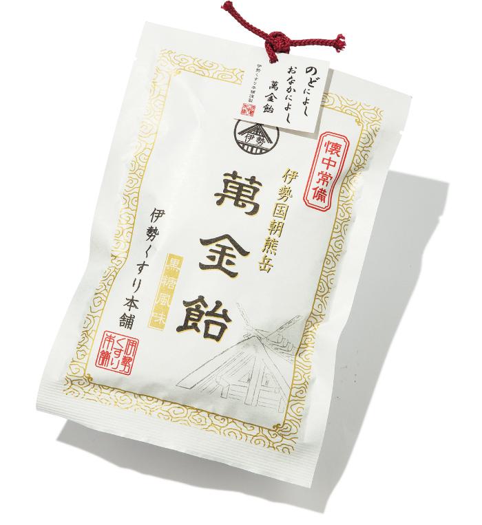 萬金飴 ¥395(税込み 100g、約18個入り)伊勢くすり本舗☎0120・646・770
