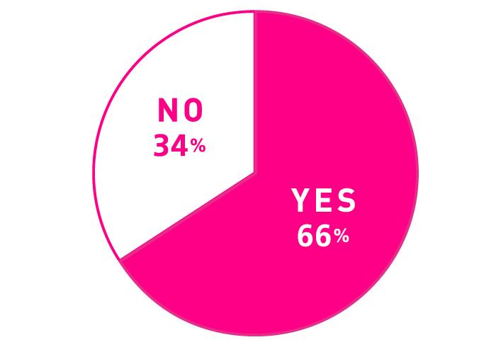 Q. ネットをうまく活用できていると思う? A.YES:66% NO:34%