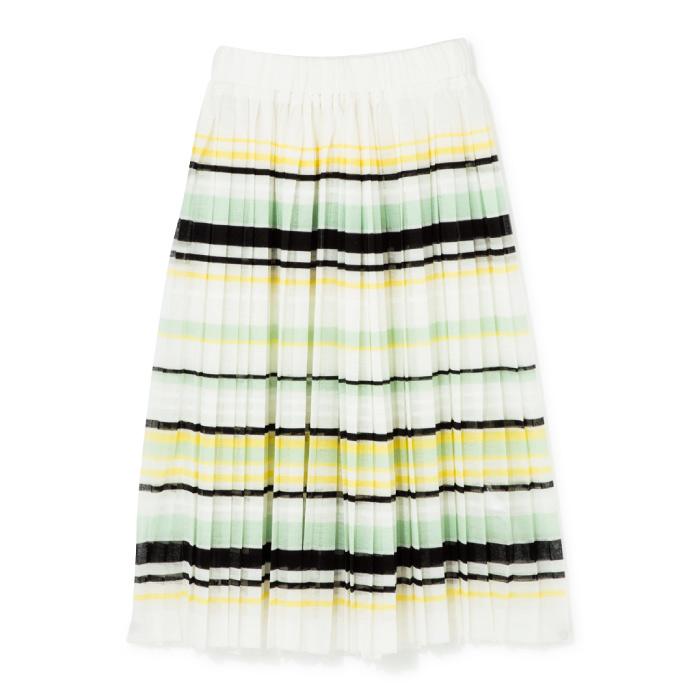 プリーツスカート¥56,000(ビューティフルピープル/ビューティフルピープル 青山店☎03・6447・1869)