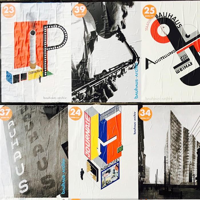 振り返ればバウハウスがいる、と言いたくなるほどドイツの建築やデザインを語る上で欠かせない存在。こちらはヴァルター・グロピウスが設計したベルリンの〈バウハウス資料館〉に貼られていたポスター。