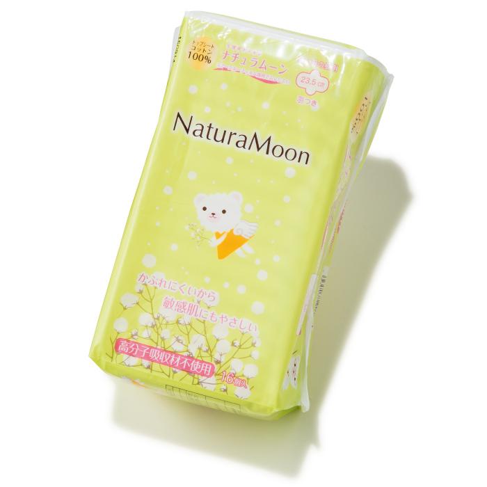 ナチュラムーン 多い日の昼用(羽つき)日本グリーンパックス☎03・3663・8745 http://naturamoon.jp/