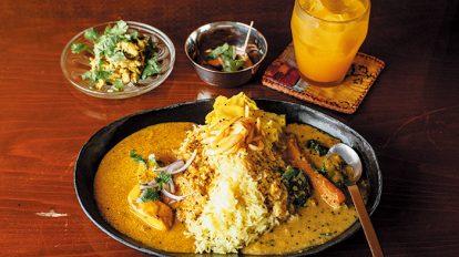 FOOD NEWS vol.99 平野紗季子のMY STANDARD GOURMET 『インド富士子』の2種盛りカレー