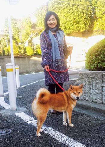 3・11の後、福島から柴犬の小太郎が来て、生活が一変した。
