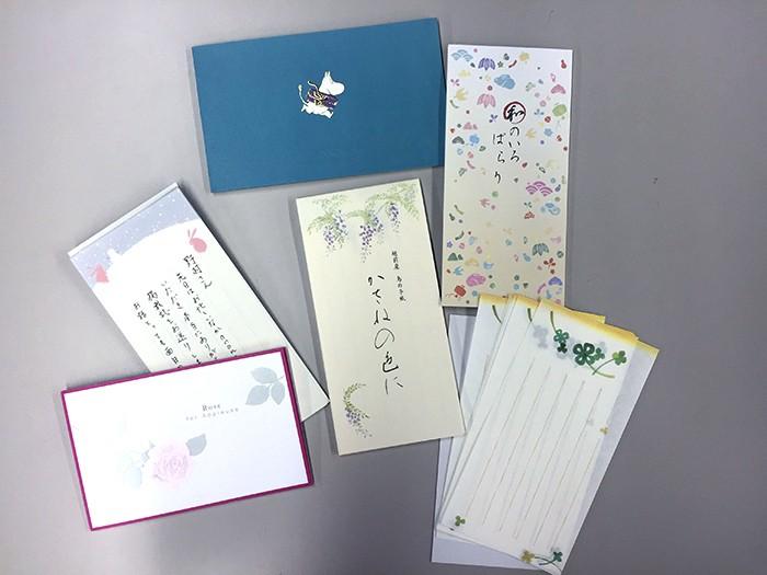 一筆箋はカードよりも気軽に使えるし、仰々しくもなりません。それに、選ぶのも楽しいですよね!