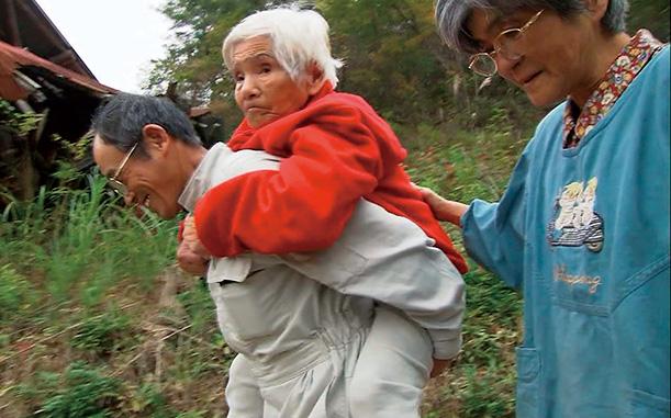 フサコさんは山に連れてきてもらうと元気になった。