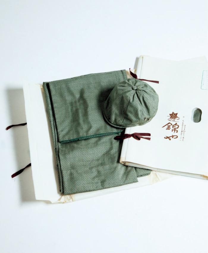 大島紬 着物&帽子