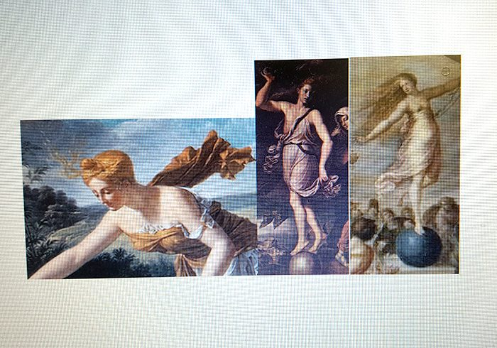 今回、女神を描くにあたりいただいた資料をチラリと。こちらはテュケ。どんな女神かは誌面で確認を!