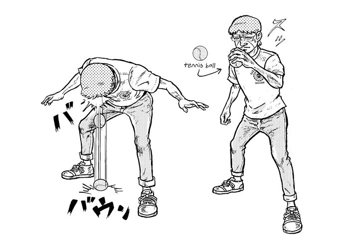 テニスボール・ヘッドバット