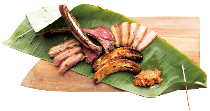 Cantina Carica ri 熟成イノシシとバナナのロースト