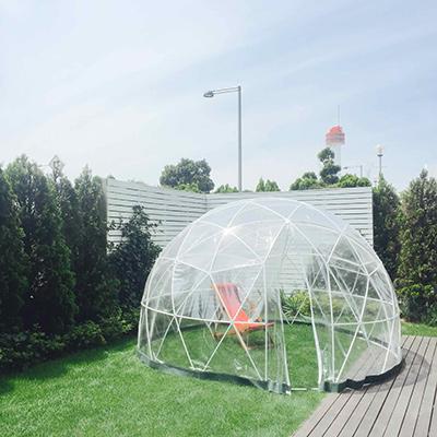 構造がデザインを決めてる感じって、やっぱり見てて楽しい。〈The Tastemakers&Co.〉のテント。