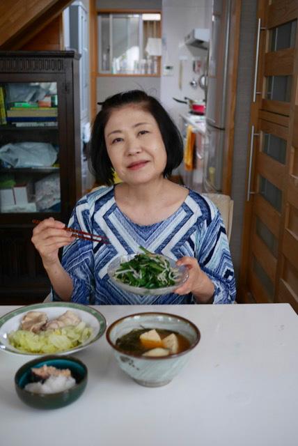 肉、魚、大豆のたんぱく質たっぷりのメニュー。「これだけ食べても痩せたんですから」と山口さん。