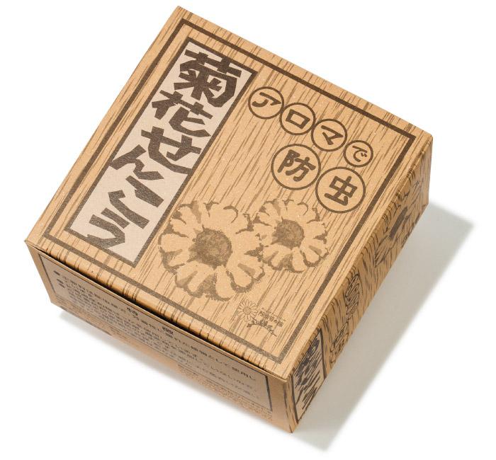 菊花せんこう ¥940(30巻き)*税込み りんねしゃ☎0567・24・6580 http://www.rinnesha.com