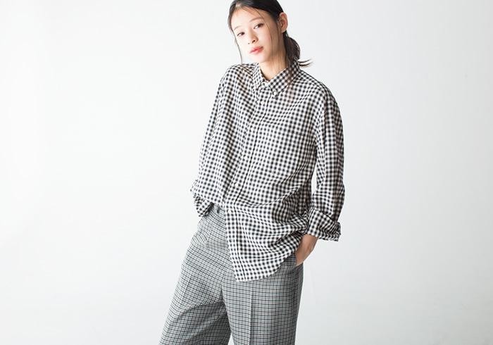 チェックシャツ ¥28,000(ビューティフルピープル/ビューティフルピープル青山店☎03・6447・1869)