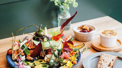 FOOD NEWS vol.127 平野紗季子のMY STANDARD GOURMET 『botanical table Offf(ボタニカル テーブル オフ)』のサラダプレート