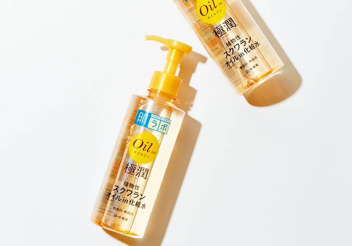 肌ラボ 極潤オイルイン化粧水 220㎖¥1,000*編集部調べ(ロート製薬☎06・6758・1230)